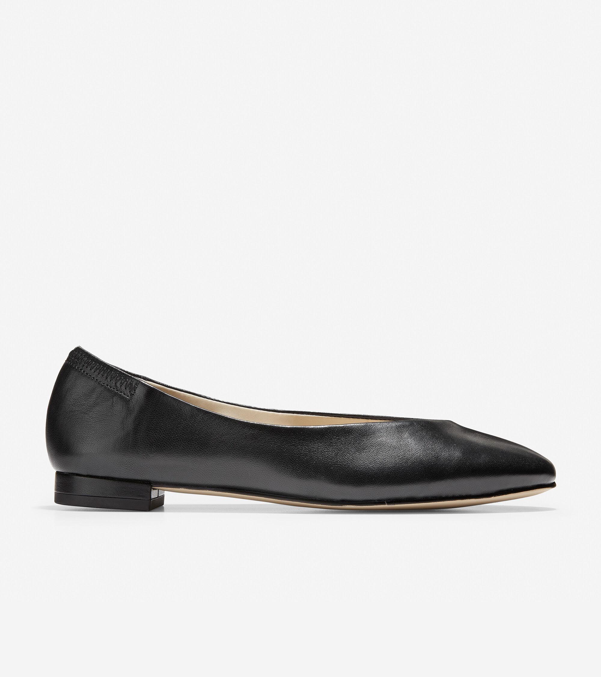 f794b5717fe Women s Kaia Ballet Flats in Black Leather