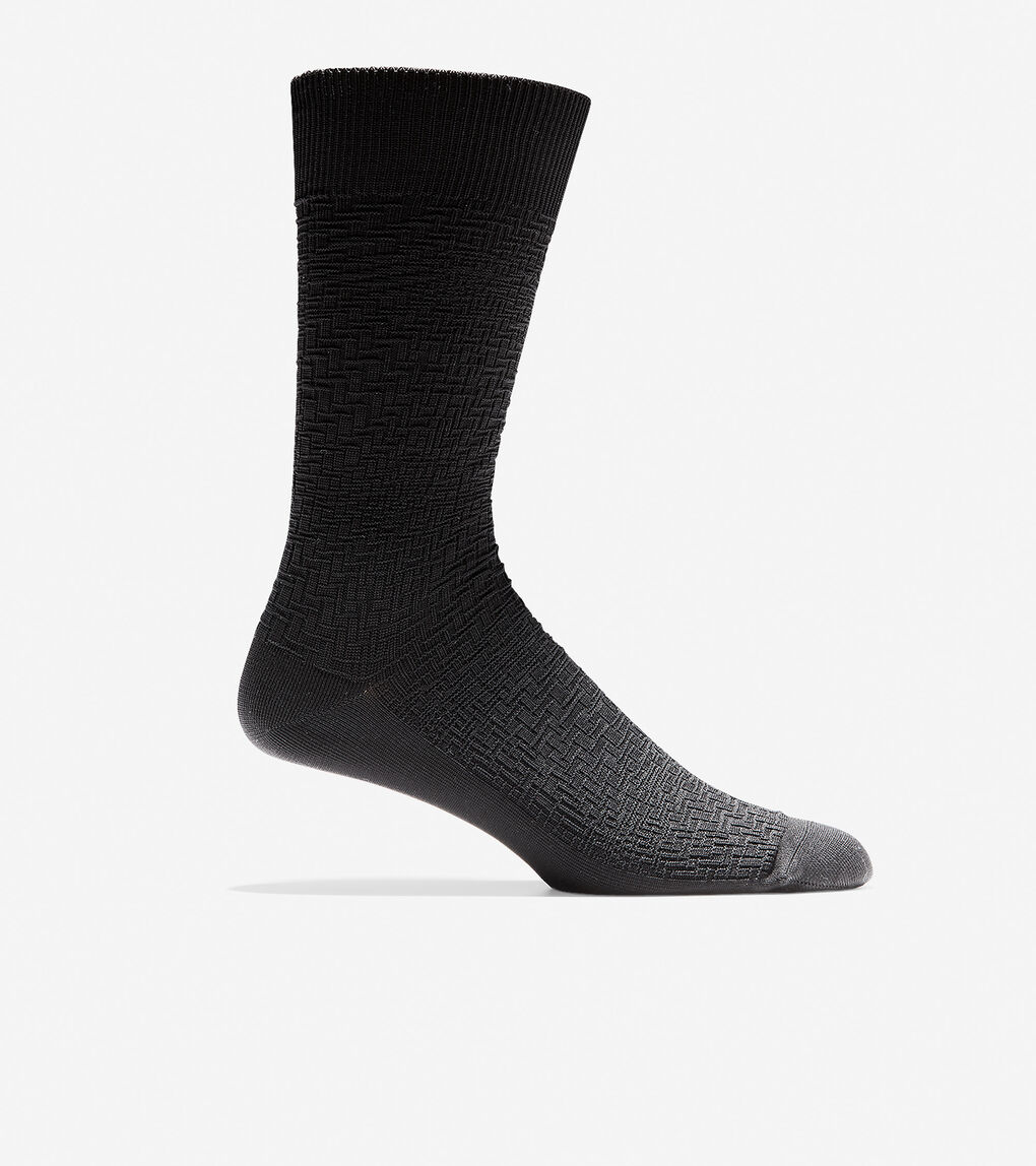 Mens Distorted Texture Crew Socks