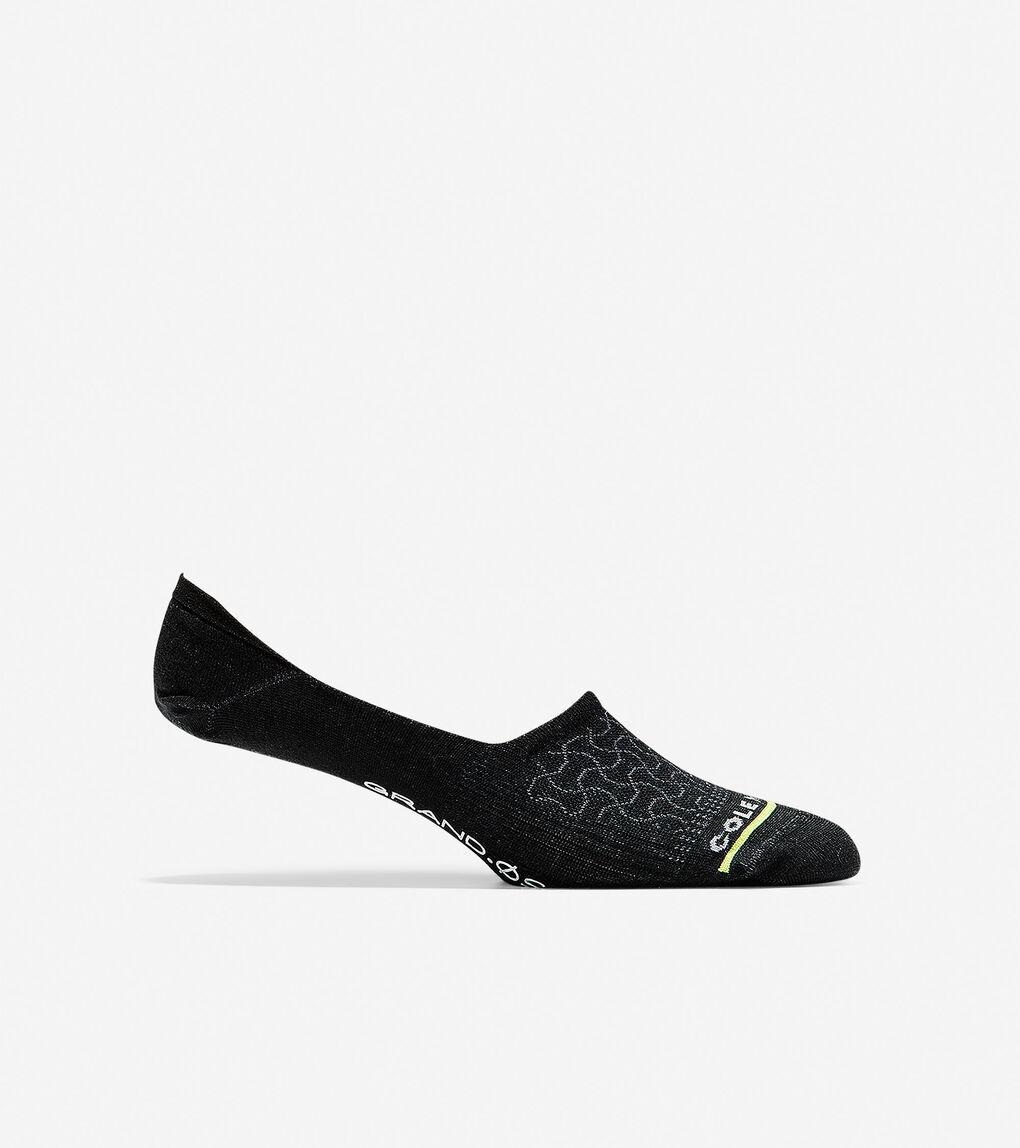 Mens Grand.ØS Auxetic Texture No-Show Sock Liner