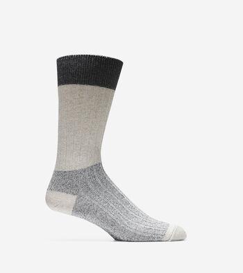 Melange Color-Block Crew Socks