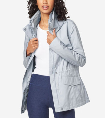 Short Packable Rain Jacket
