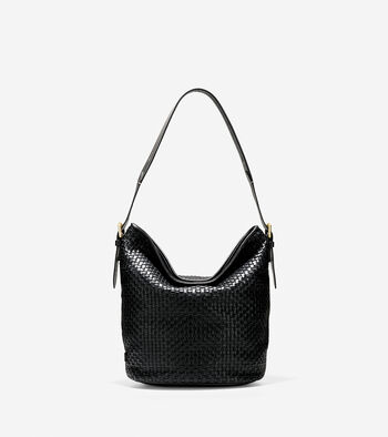 Loralie Weave Bucket Bag