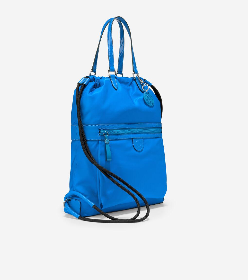 WOMENS Nylon Drawstring Backpack