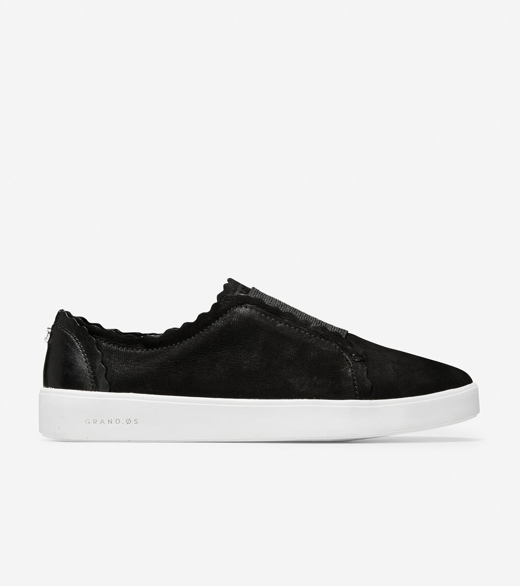 Womens Grand Crosscourt Scallop Slip-On Sneaker