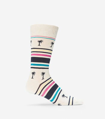 Palm Tree Crew Socks