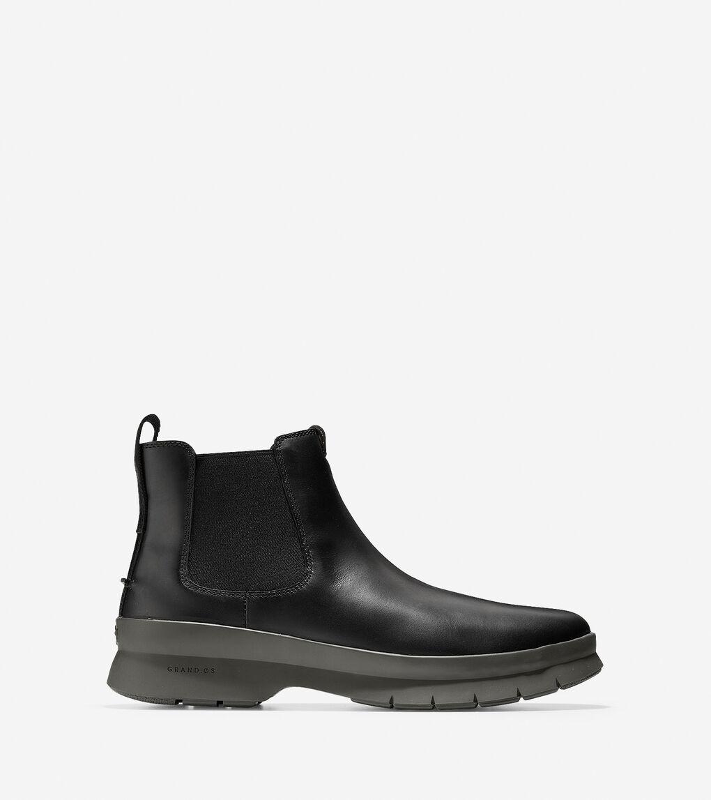 a97bb3a3c5e Men's Pinch Utility Chelsea Boot in Black-hazel Waterproof | Cole ...