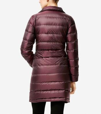 Iridescent Down Asymmetrical Coat