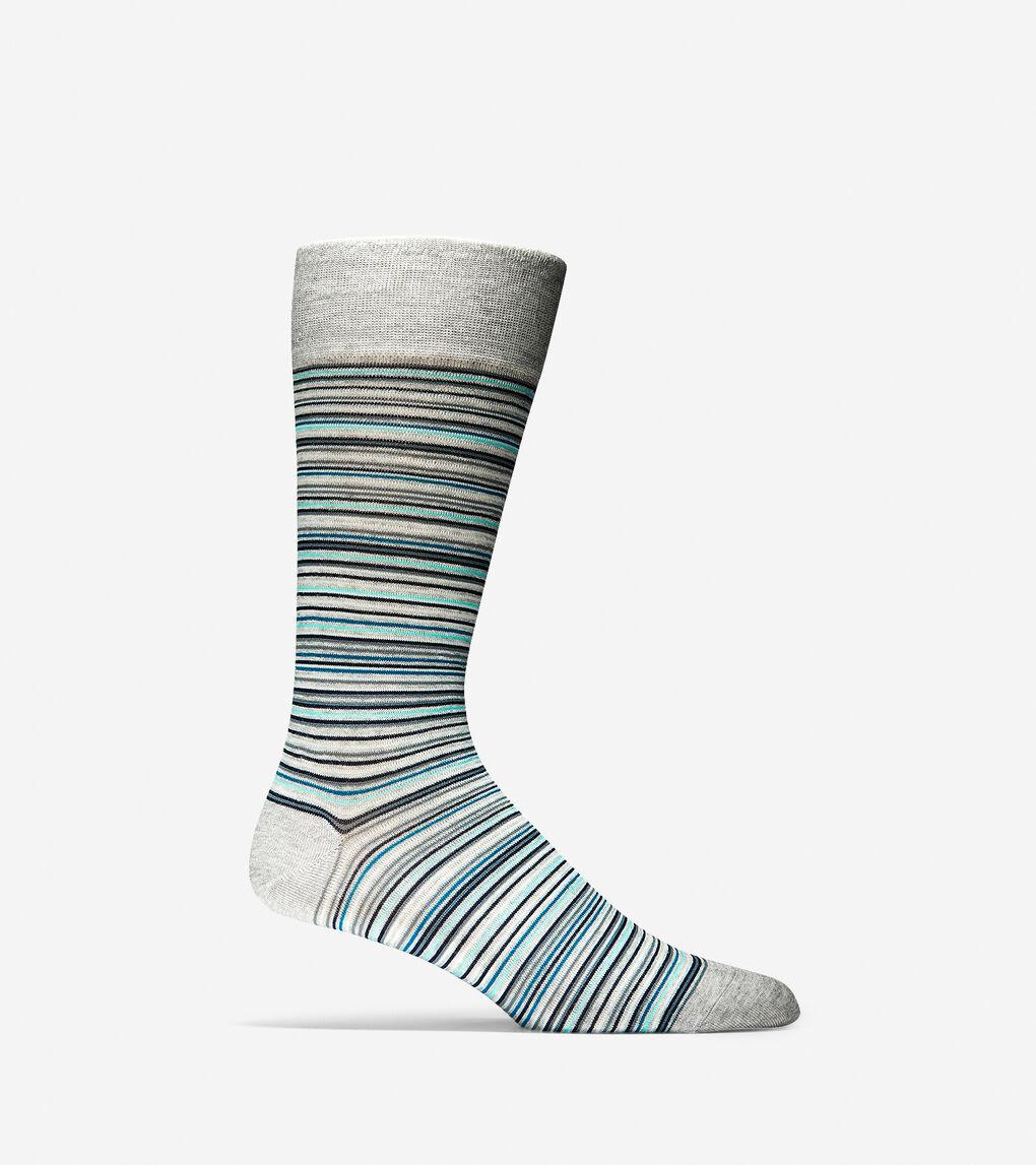Mens Multi Stripe Crew Socks