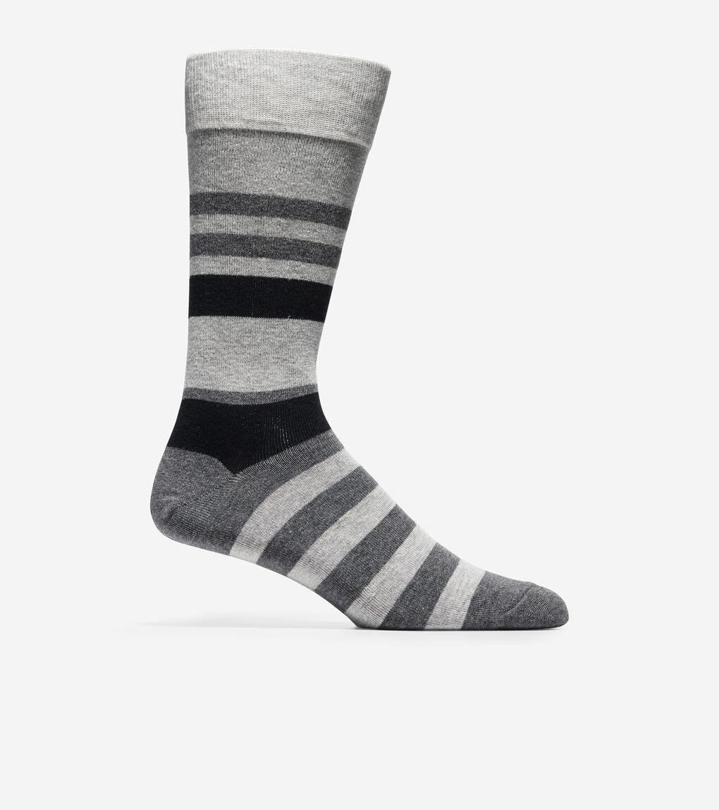 MENS 3-Pair Town Stripe Crew Socks