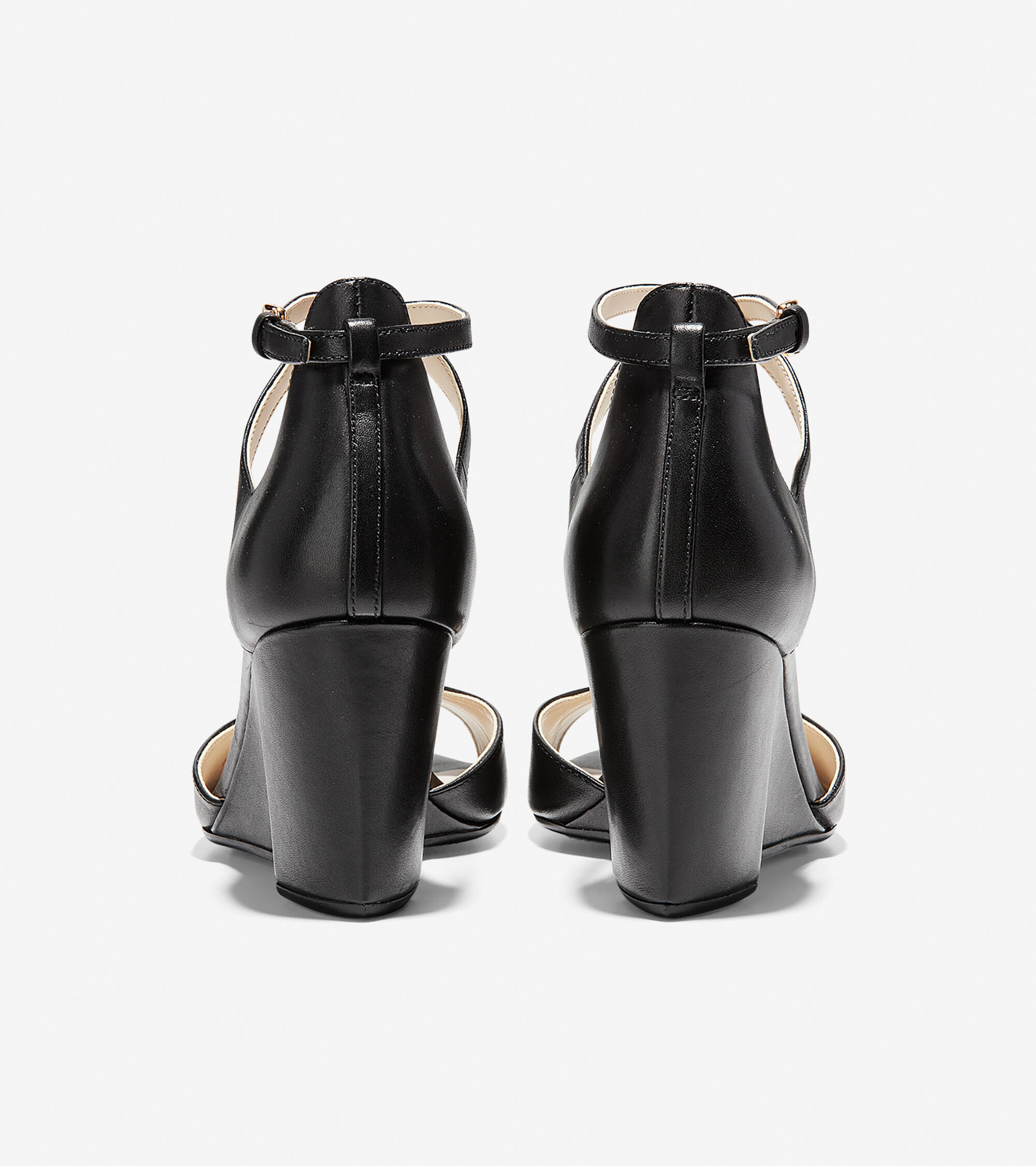 13feb0426ec Women s Sadie Open Toe Wedge Sandals 75MM in Black