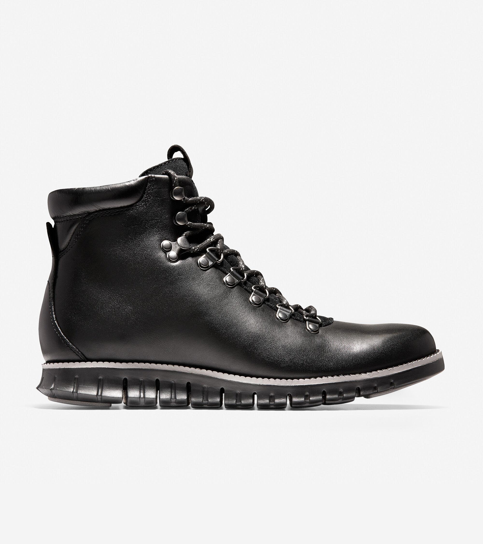 Men's ZERØGRAND Hiker Boot in Black