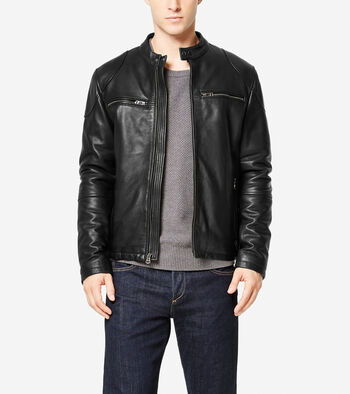 Spanish Grainy Leather Moto Jacket