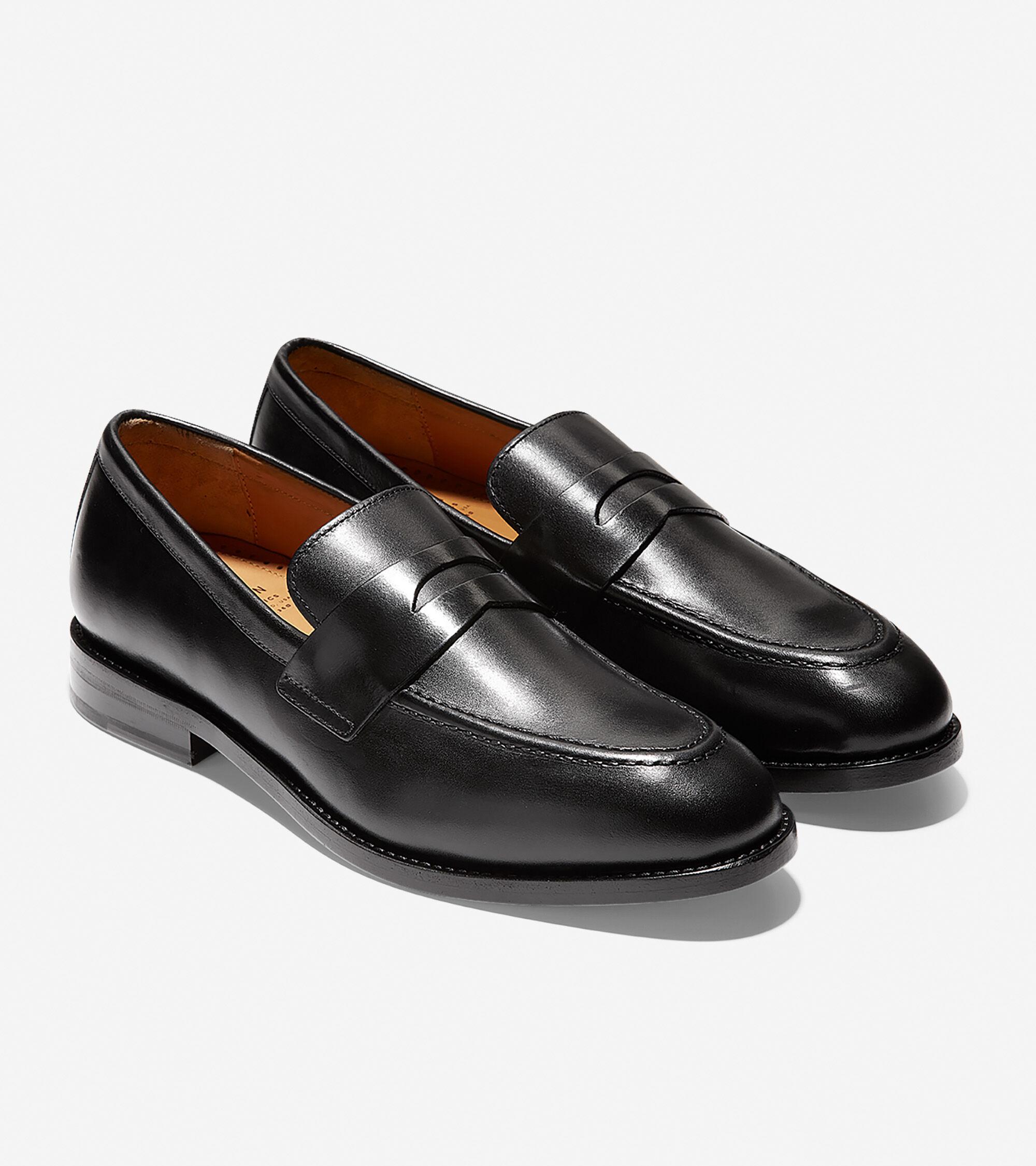 Men's Kneeland Penny Loafers in Black | Cole Haan