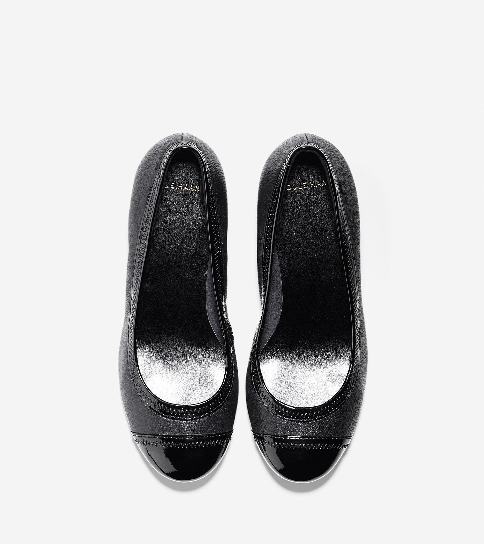 e49860694ab5 Women s Elsie Cap Toe Wedges (40mm) in Black