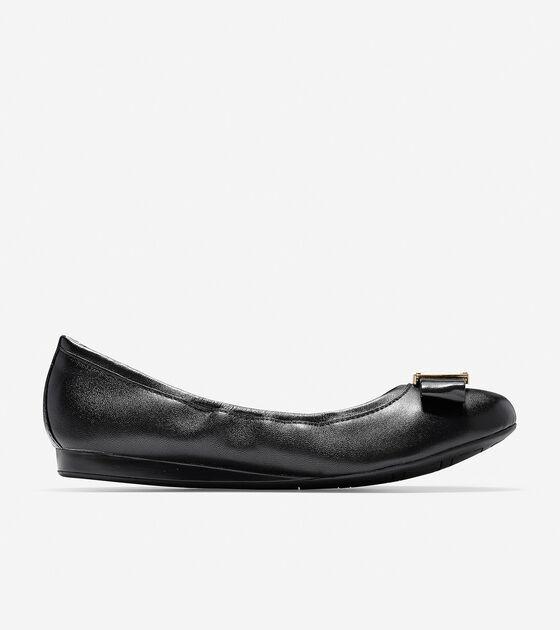 941990aad Women's Emory Bow Ballet Flats in Black | Cole Haan