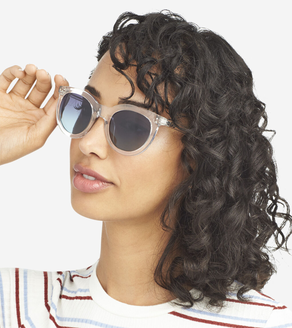Womens Retro Round Sunglasses