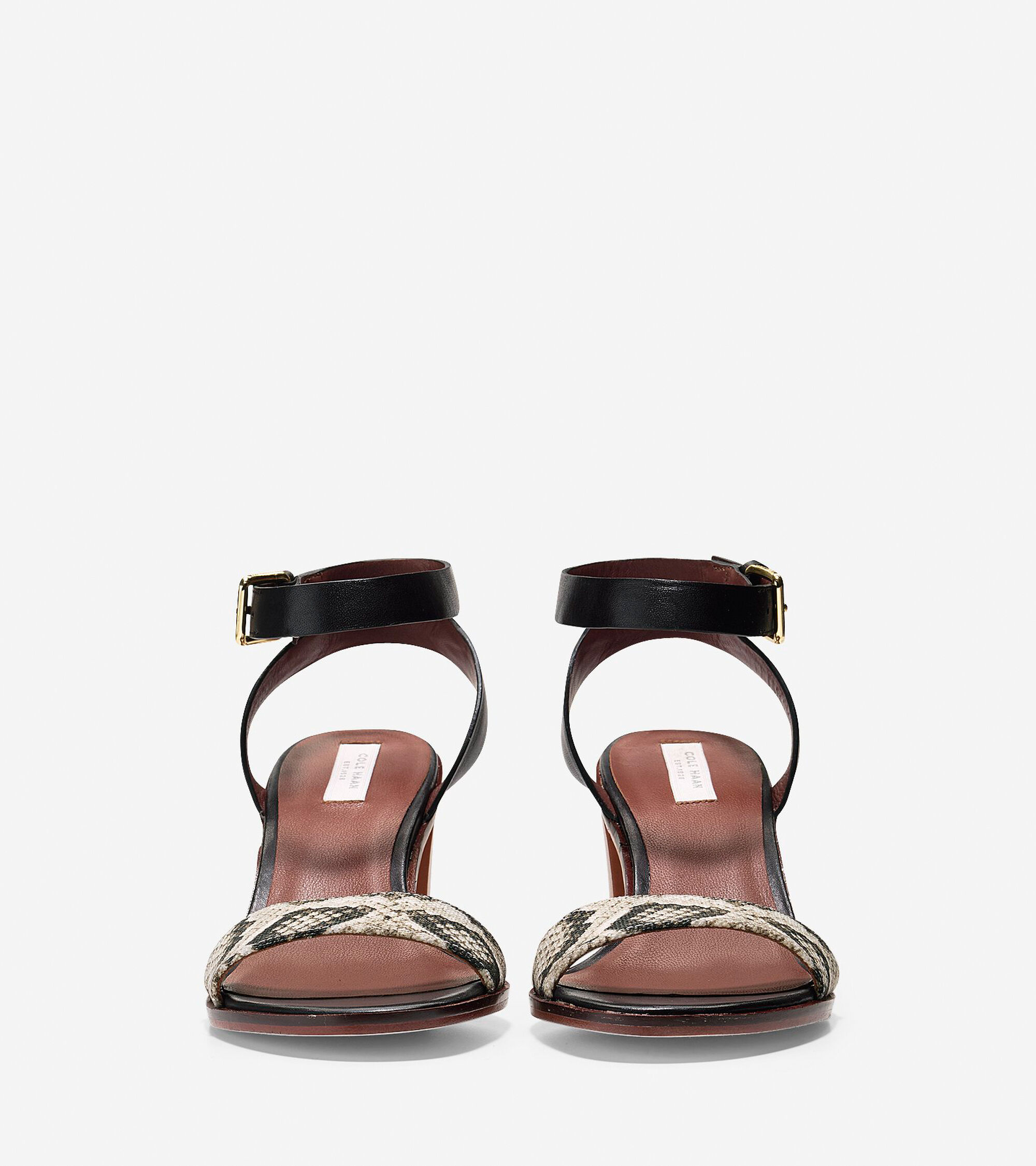a524dfdfc Cambon Mid Sandals 65mm in Black-Roccia Snake