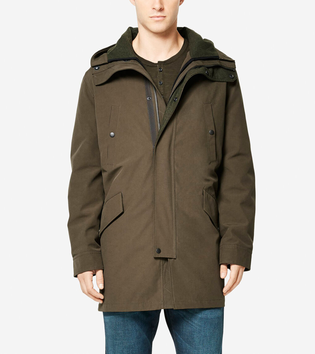 Mens Utility Rain 3-in-1 Anorack with Primaloft