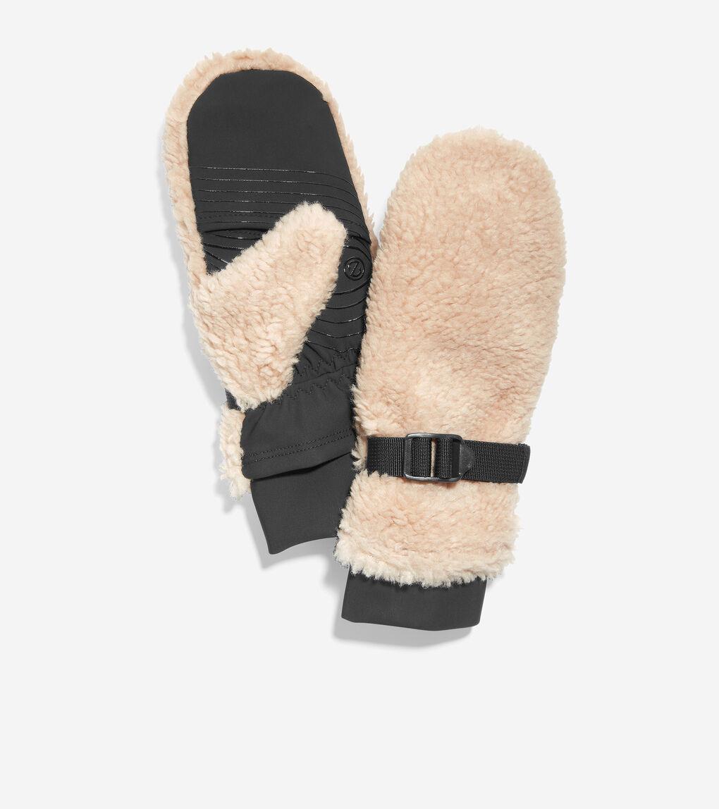 WOMENS Convertible Sherpa Mitten With Stretch Tech Glove