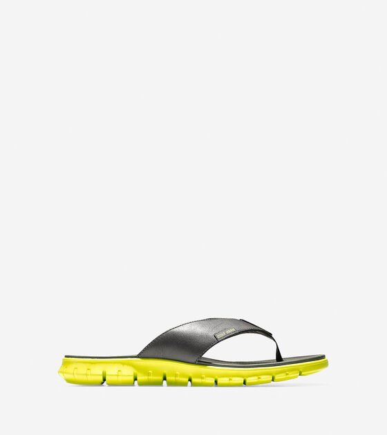 675393c8ab01 ZEROGRAND Sandals in Magnet Leather-Wasabi