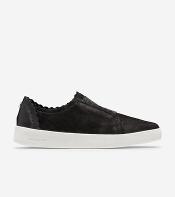Women's GrandPrø Spectator Scalloped Slip On Sneaker