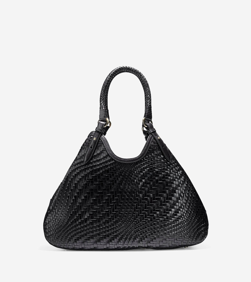 Genevieve Triangle Tote In Black