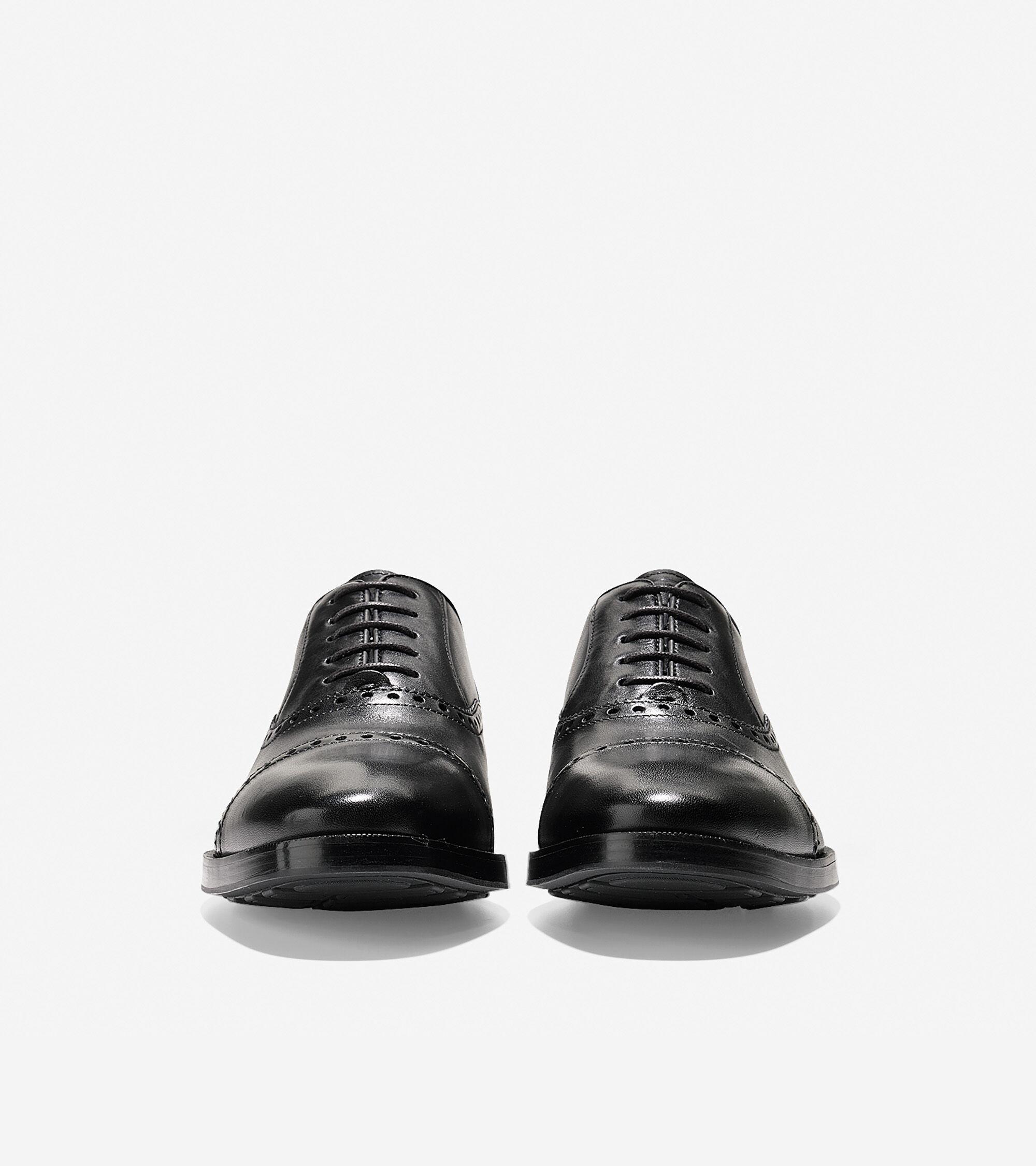 Hamilton Grand Cap Toe Oxford in Black