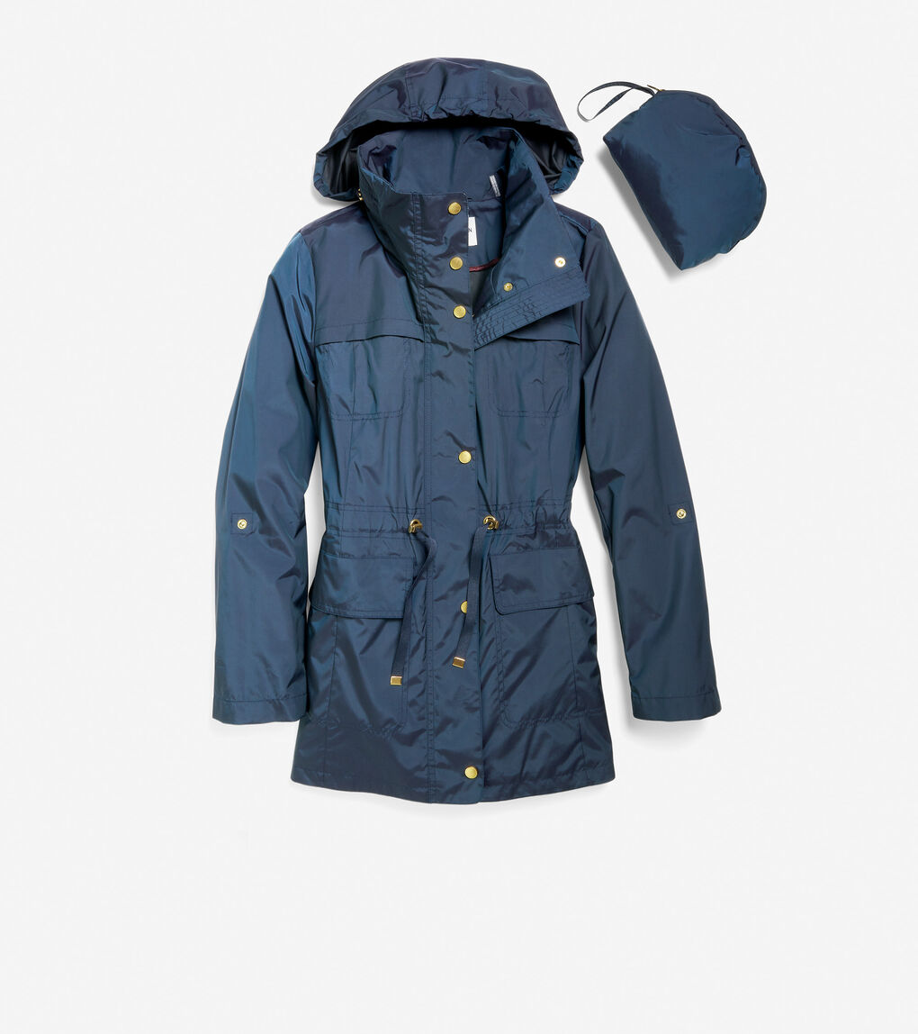 WOMENS Packable Hooded Rain Jacket