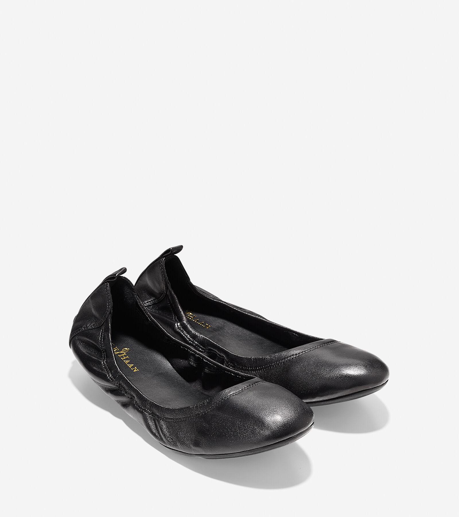 Jenni Ballet Flat in Black Nappa