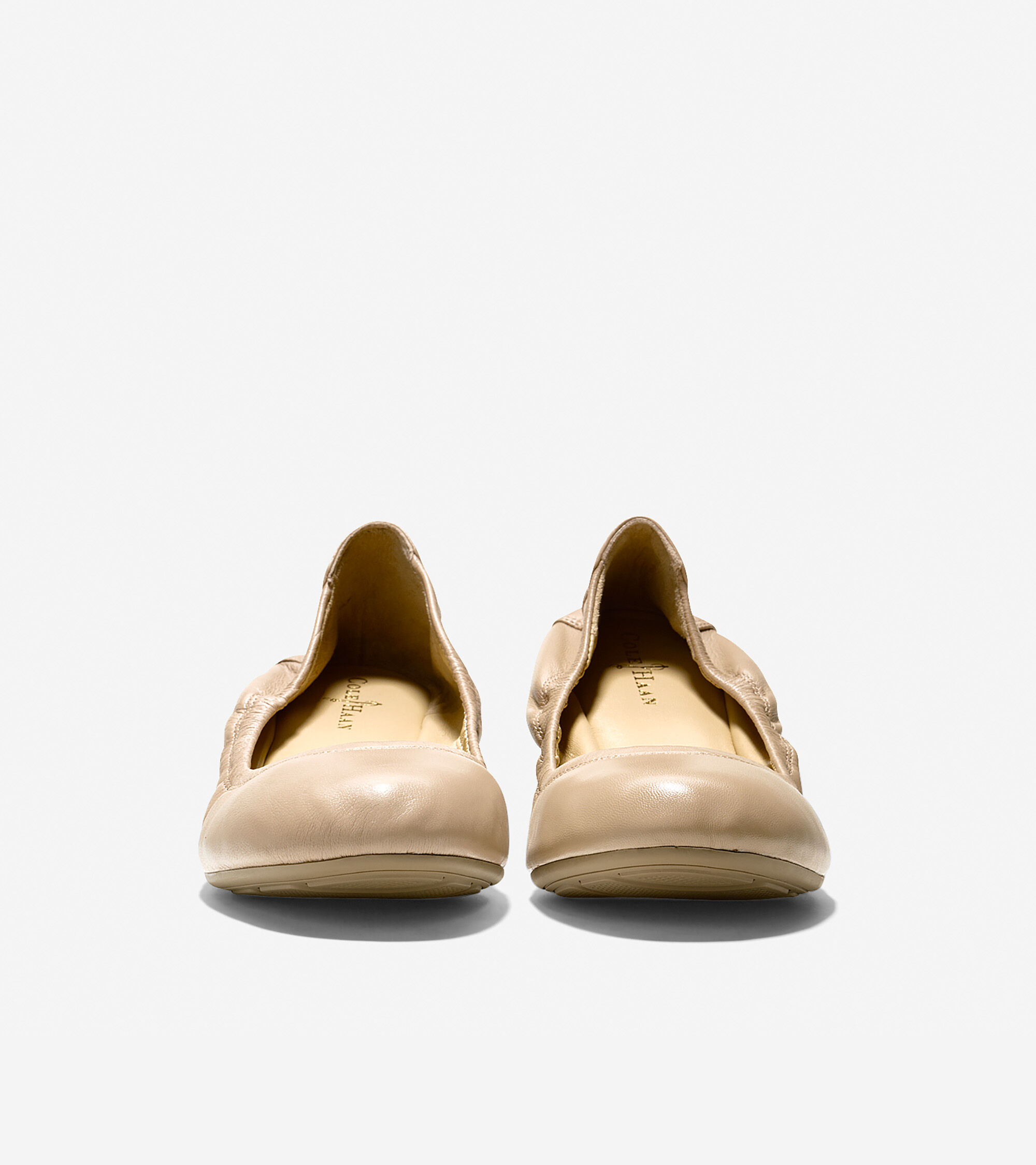 Manhattan Flats: Manhattan Ballet Flats In Sandstone Leather