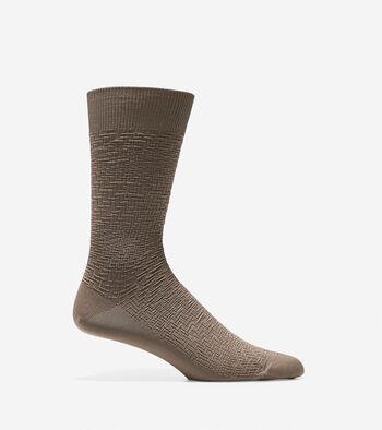 Distorted Texture Crew Socks