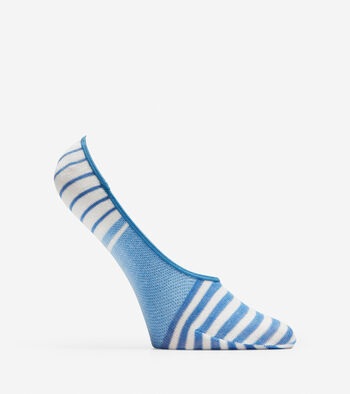 Striped No-Show Socks - 2 Pack
