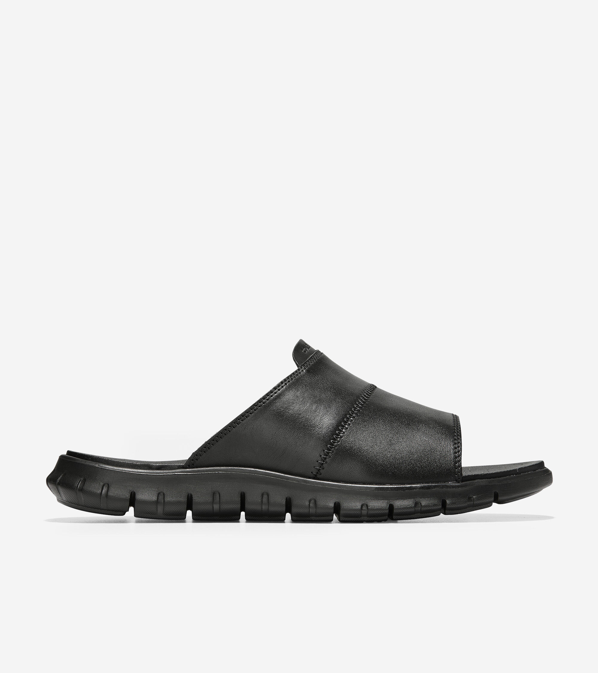 ac47a604f1a36 Men's ZEROGRAND Slide Sandals in Black Leather | Cole Haan