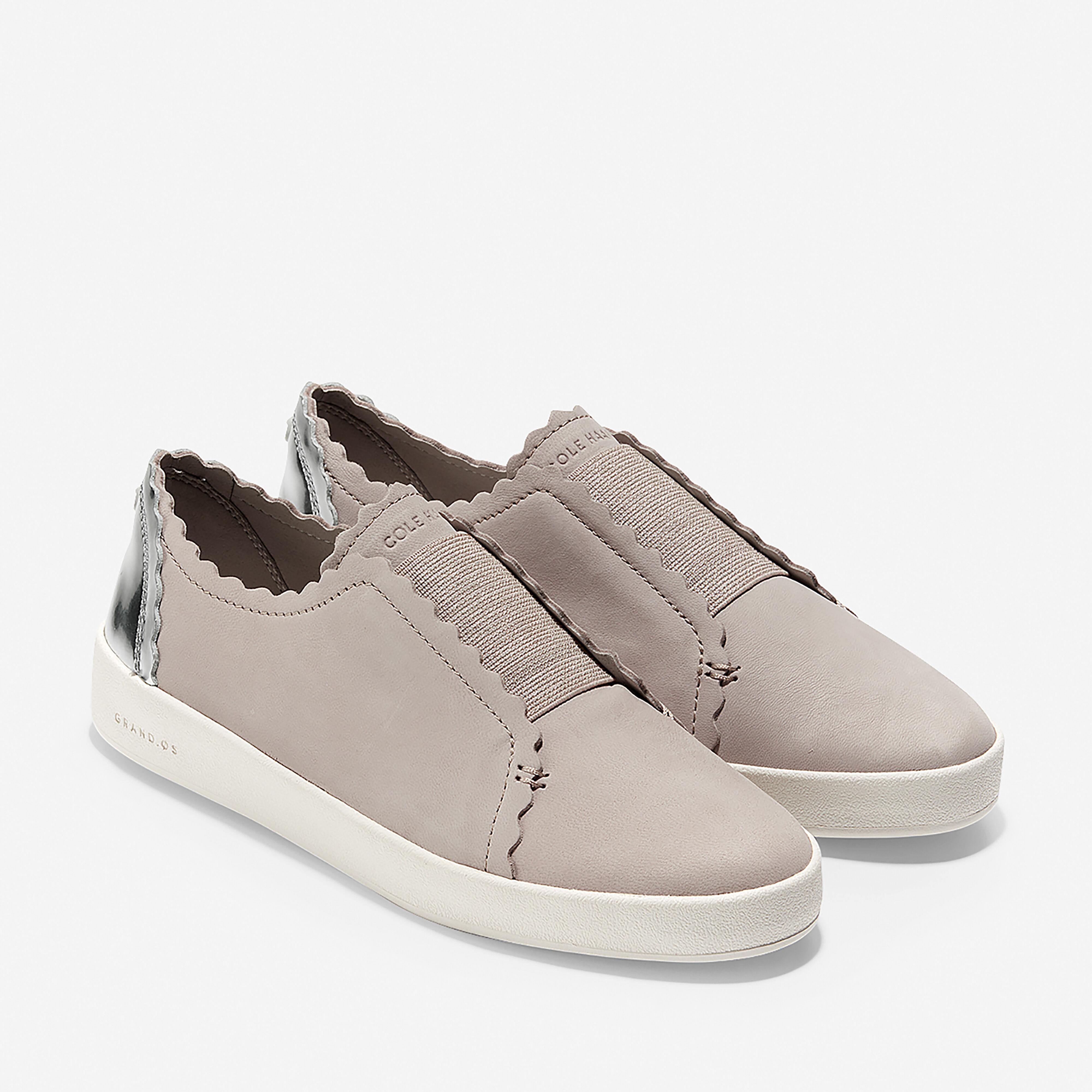 Spectator Scalloped Slip-On Sneaker