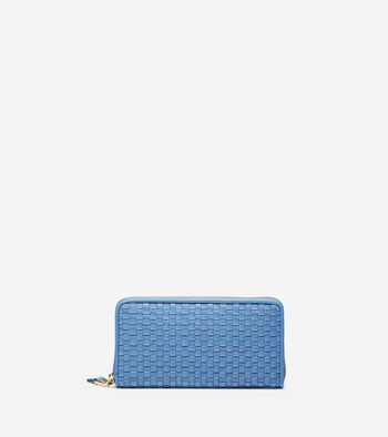 Zoe Woven Continental Wallet