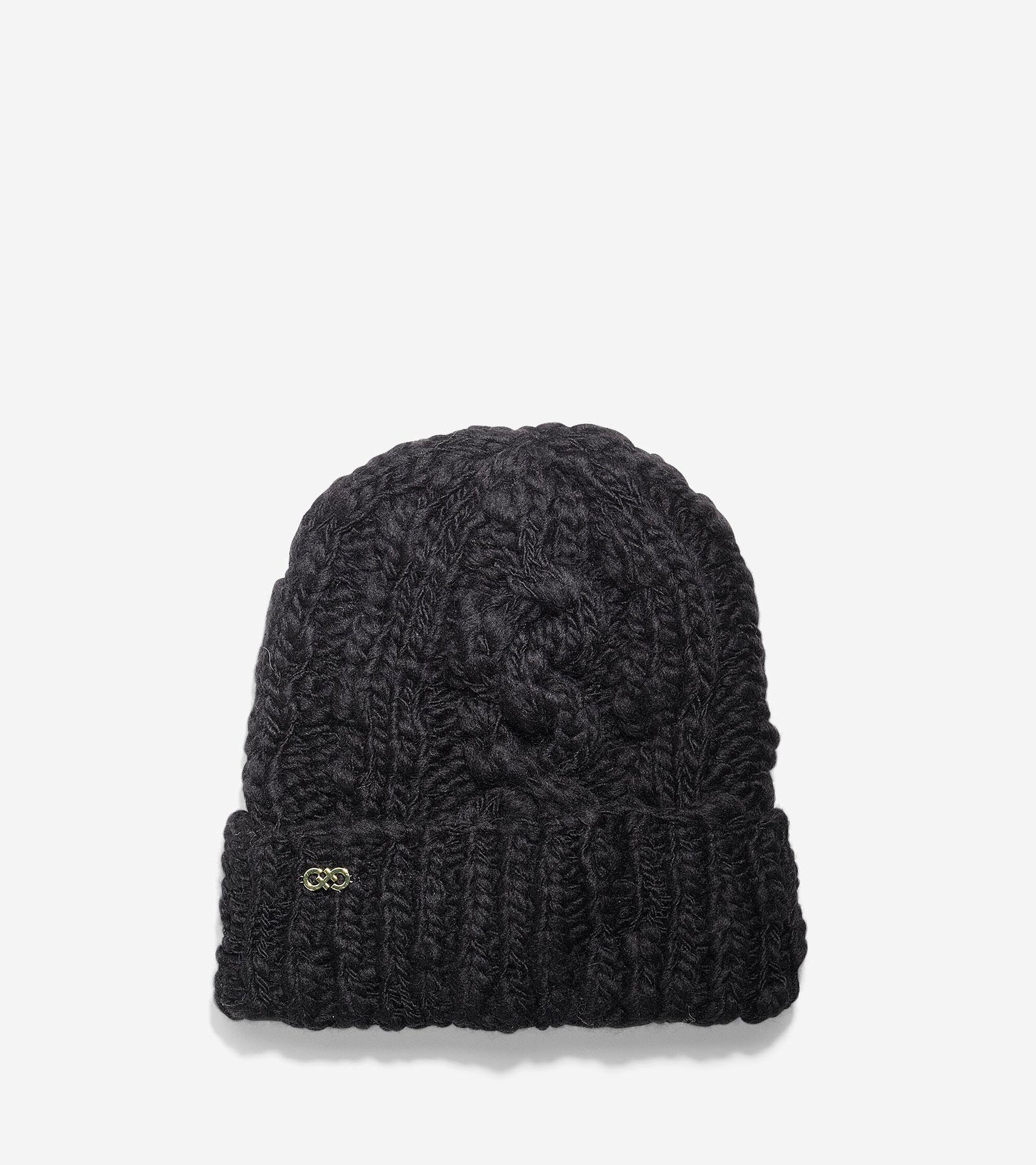 a3752a58d85 Women s Chunky Cable Cuff Hat in Black