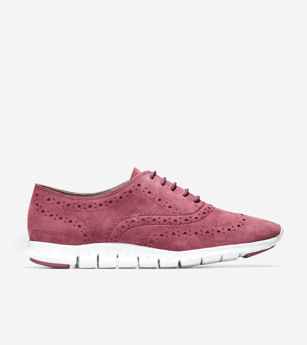Womens ZERØGRAND Wingtip Oxford