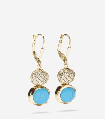 Spring Street Fashion Semi-Precious Double-Drop Earrings