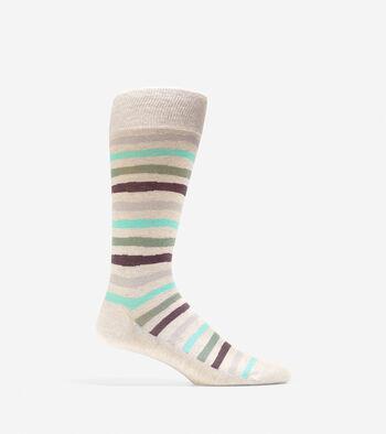 Pinch Wave Stripe Crew Socks