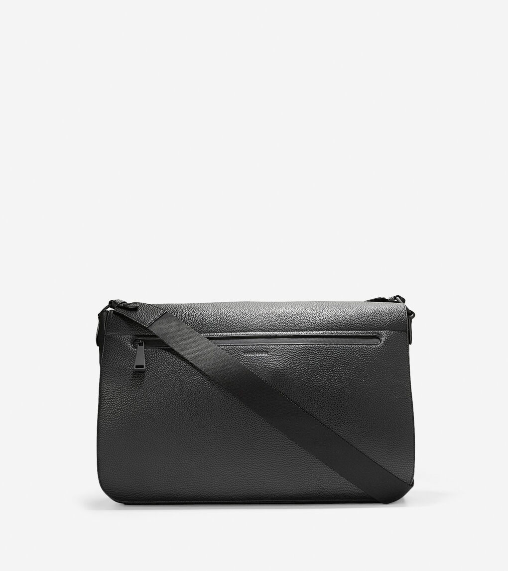 6d10c2abac6 Women's Grand.ØS Leather Messenger Bag in Black | Cole Haan US