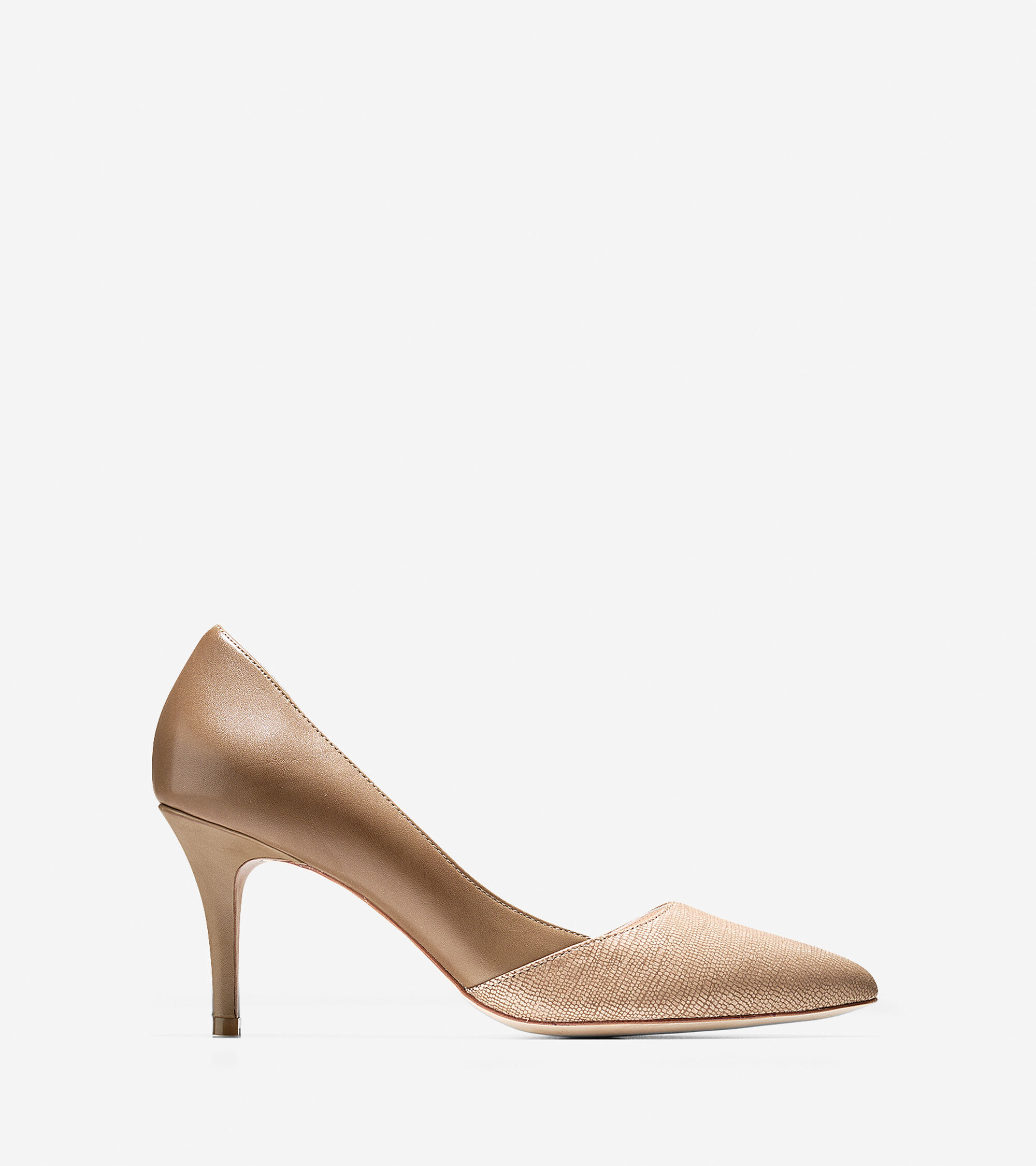 9d88770ccbe652 Women s Highline Pumps 75mm Pointy Toe in Cremini-Cashew