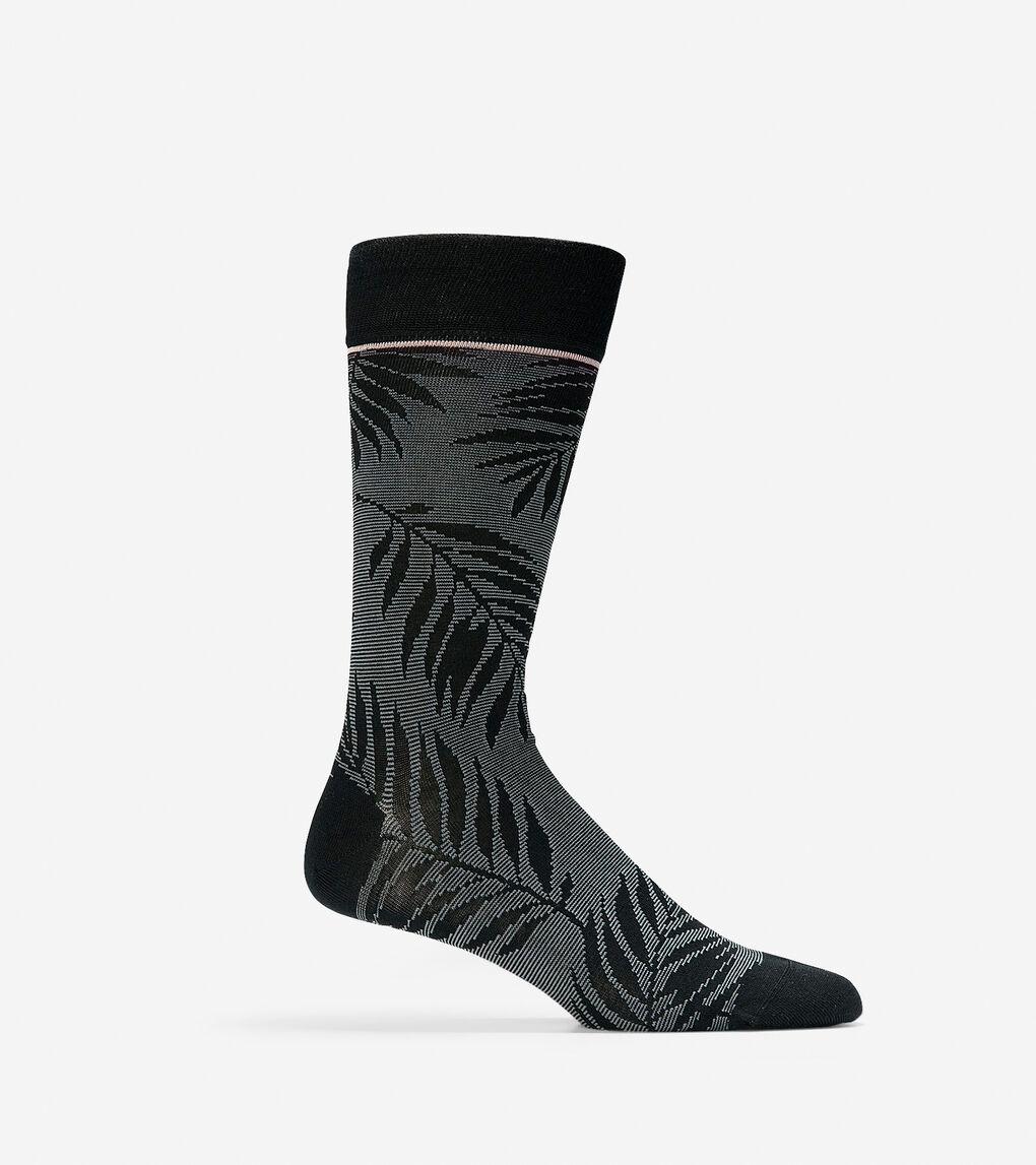 Mens Palm Leaves Crew Socks