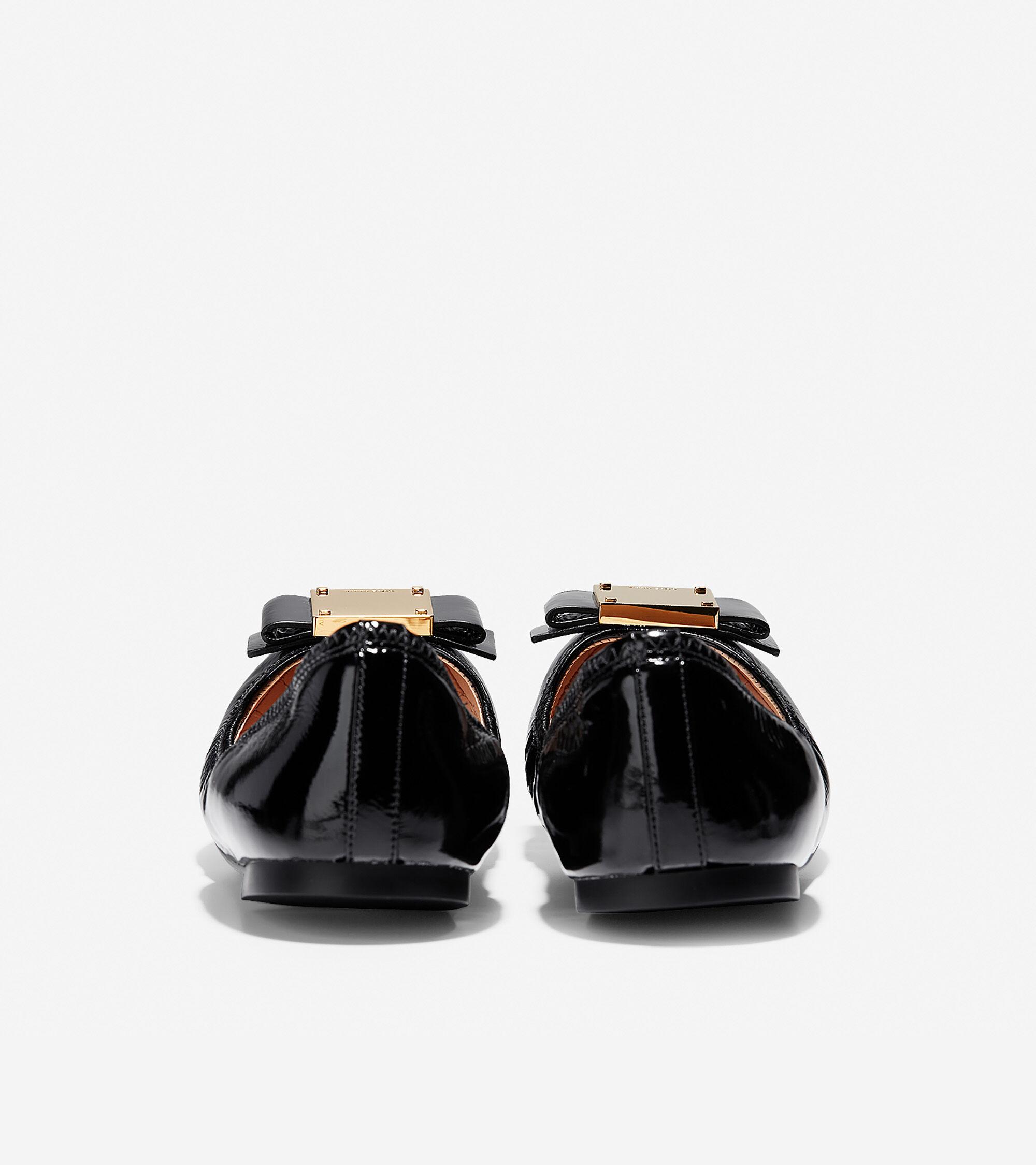 28ed2d5b5b9ec Women s Tali Modern Bow Ballet Flats in Black Patent