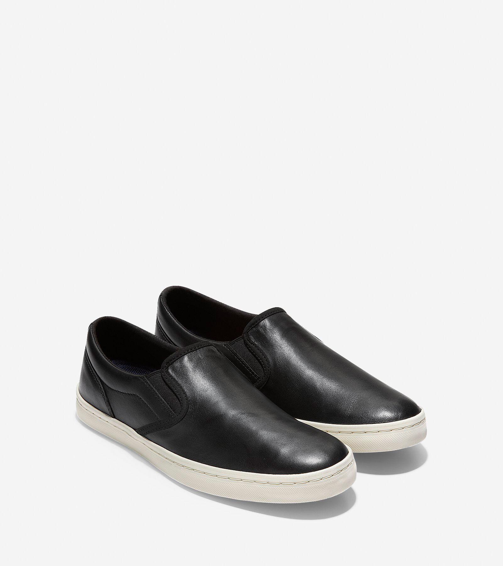 Nantucket Deck Slip-On Sneaker in Black