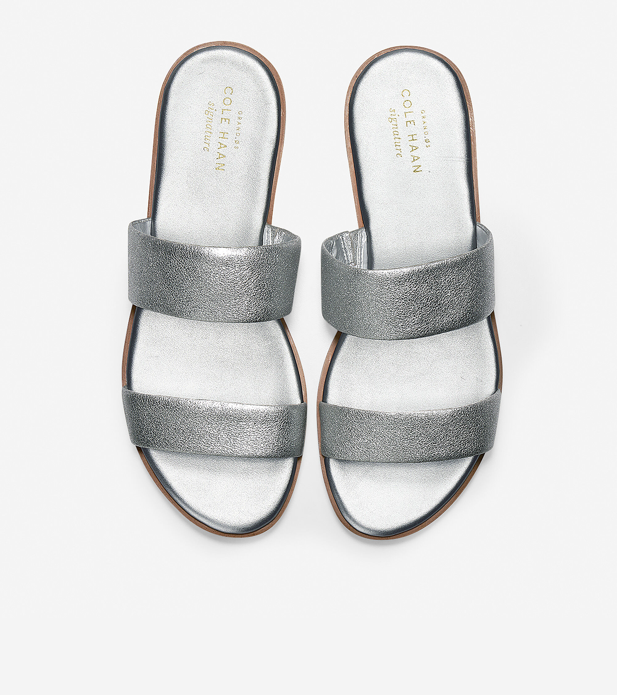 Findra Sandal in Silver Leather   Cole Haan