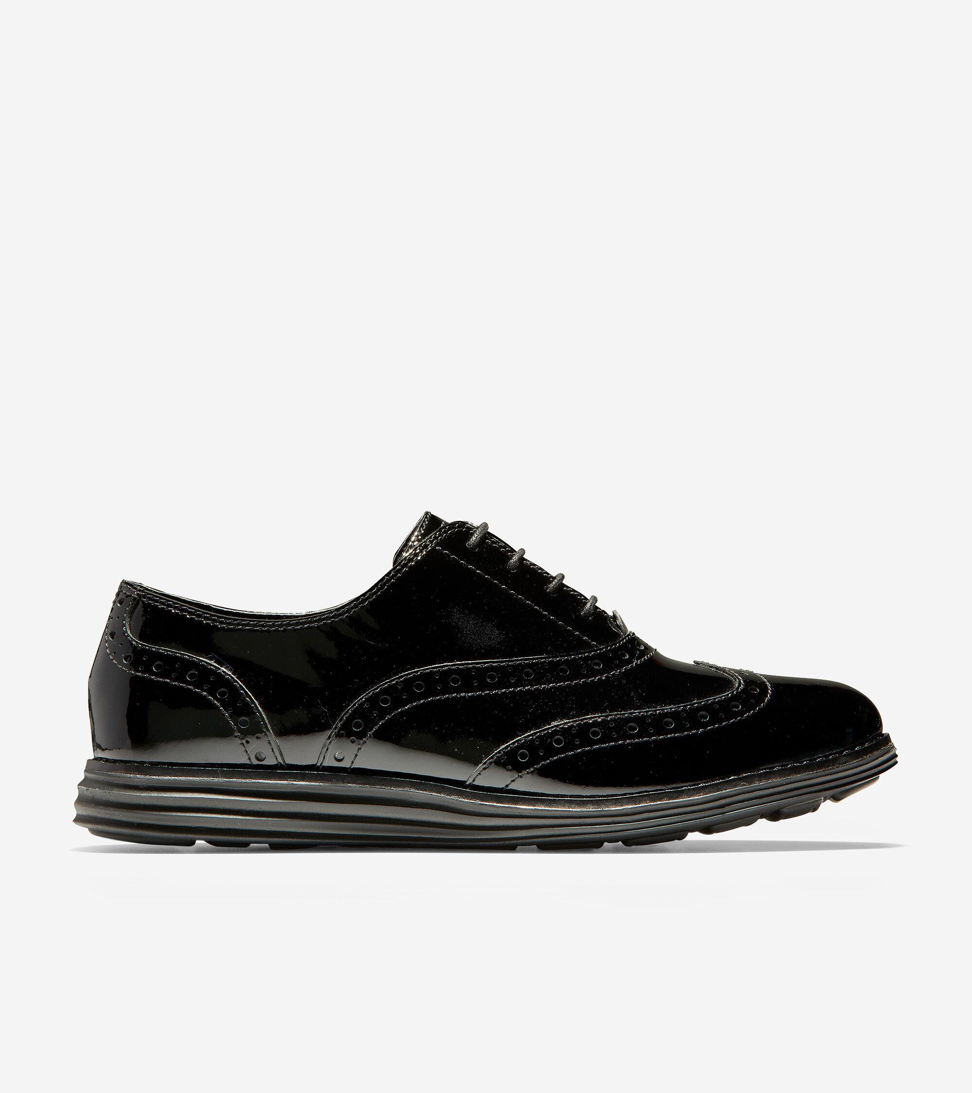 Wingtip Oxford in Black Patent-Black