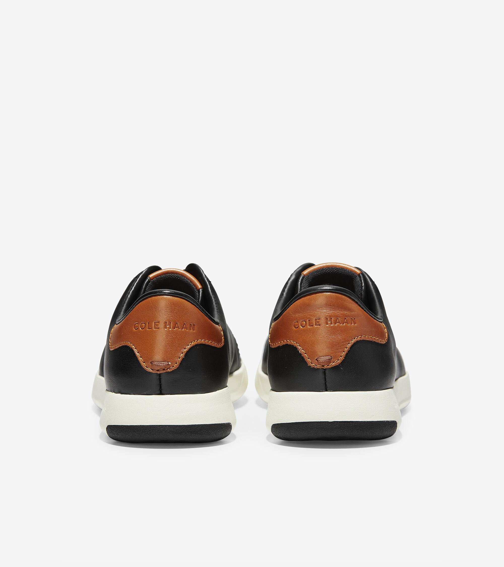 Grandpro Tennis Sneakers In Black British Tan Cole Haan D Island Shoes Slip On Comfort Leather Dark Brown Mens Grandpr Sneaker