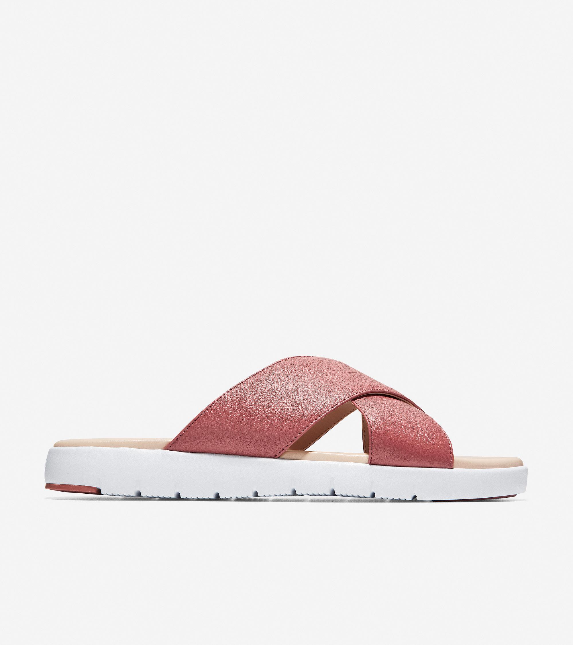 Cole Haan Women's ZEROGRAND Criss-Cross Slide Sandal