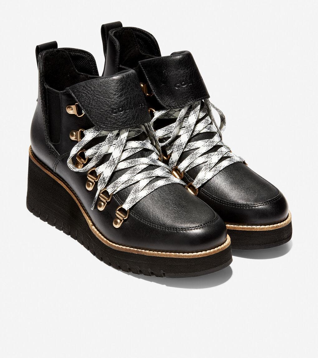 Womens ZERØGRAND Wedge Hiker Boot