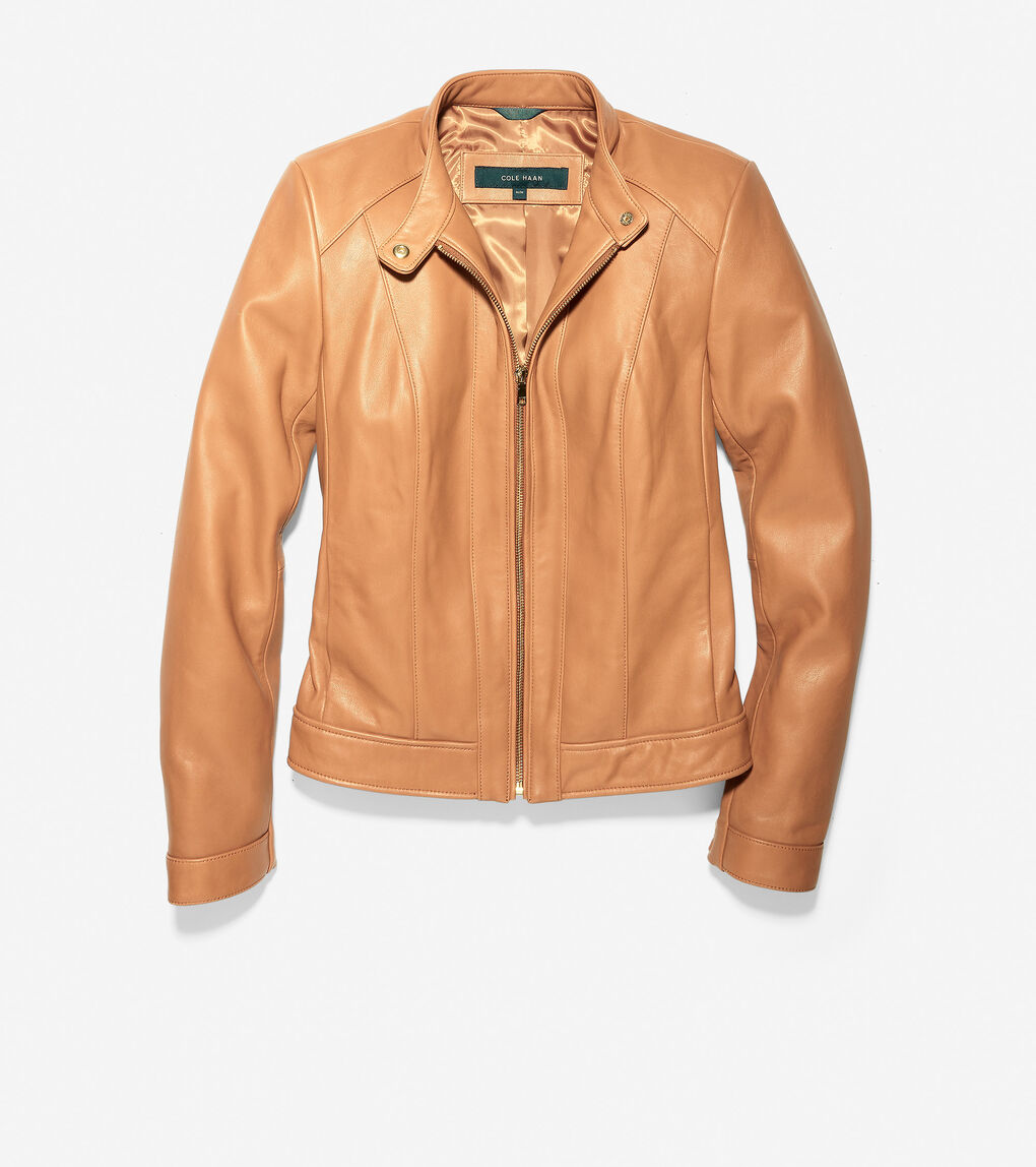 Womens Smooth Lambskin Leather Jacket